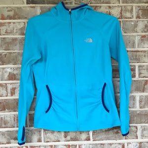 North Face Full Zip Pocket Thumb Fleece Jacket